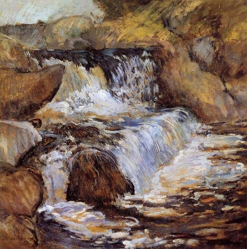 The Cascade by John Henry Twachtman, oil on canvas, 1890.