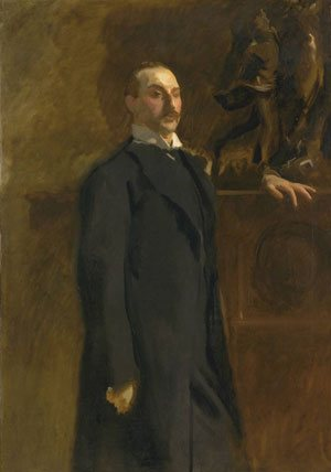 Portrait of Edward Wertheimer by John Singer Sargent, portrait painting.