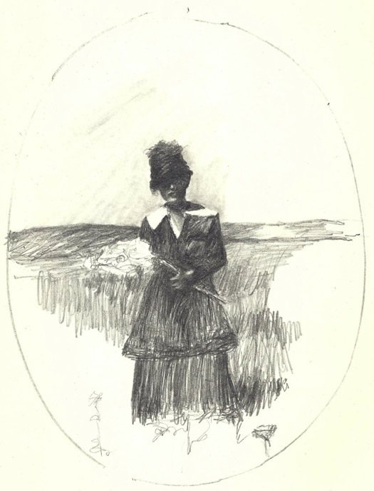 Drawing by Margaret Krug, Mayme at Henry
