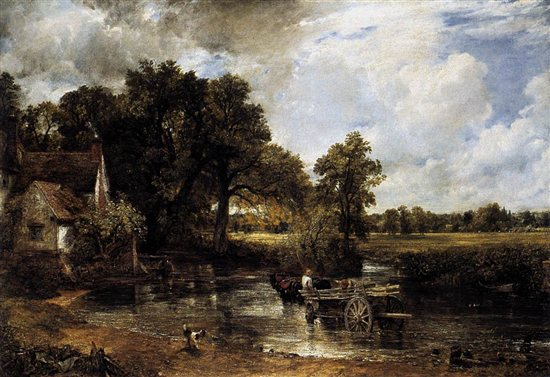 The Hay Wain by John Constable, oil painting, 1821.