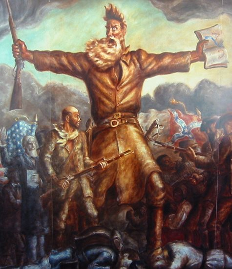 Tragic Prelude by John Steuart Curry. (Painting of Abolitionist John Brown)