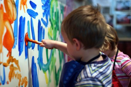 Painting together with family and friends of all ages can be really rewarding.
