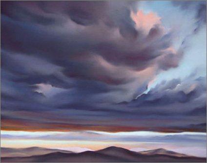 Plein air painting by Jonathan Owens: Cloud Break