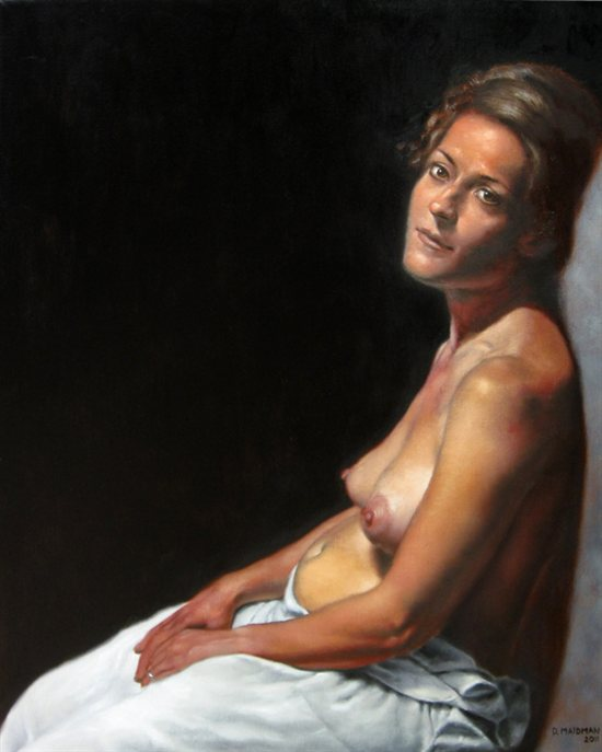 Young Mother by Daniel Maidman, 2011, oil on canvas, 30 x 24.