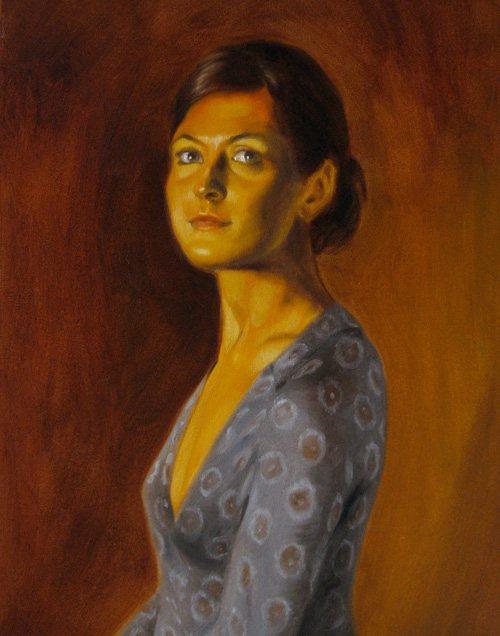 Piera by Daniel Maidman, oil on canvas, 28 x 22, 2008.