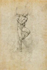 Michelangelo The Risen Christ drawing