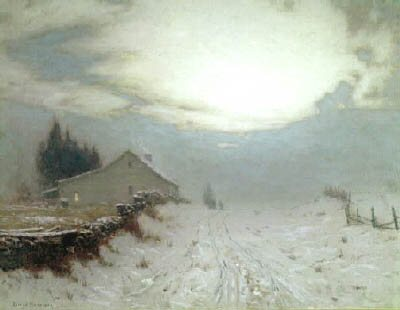 Sunrise in Winter by Lovell Birge Harrison.