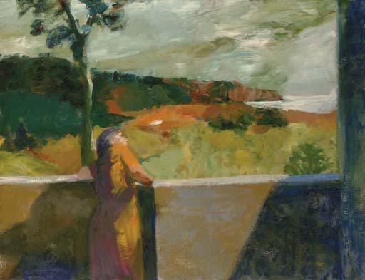Red Cliffs by Elmer Bischoff, 1963, oil on canvas, 78 x 103.