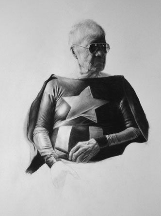 Portrait of a Shieldless Captain by Jason Yarmosky, drawing.