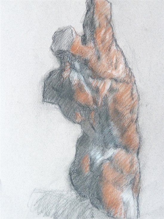 Peter Kelsey ecorche figure drawing