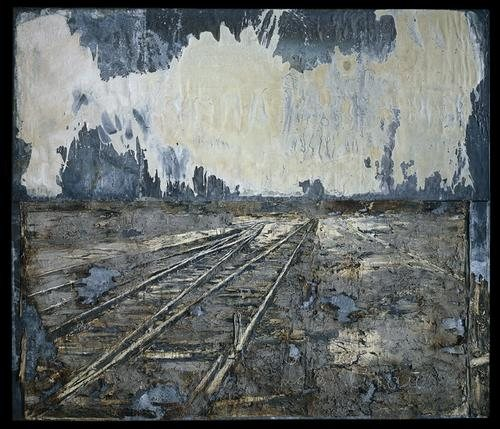 Lot's Wife by Anselm Kiefer, mixed media painting.