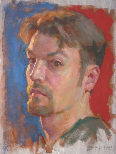 Self-Portrait by David Tanner 2009, oil painting, 16 x 12. Winner of American Artist's Self-Portrait Cover Competition.