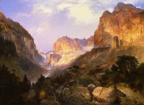 Golden Gate, Yellowstone National Park by Thomas Moran, 1893, oil on canvas.