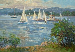 Michael Graves, Sailing Lessons, oil on canvas