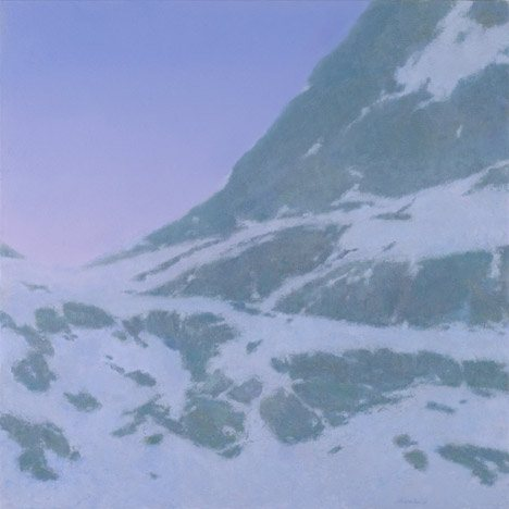 Upper Ridge at Dusk, 2011, oil on panel, 18 x 18.