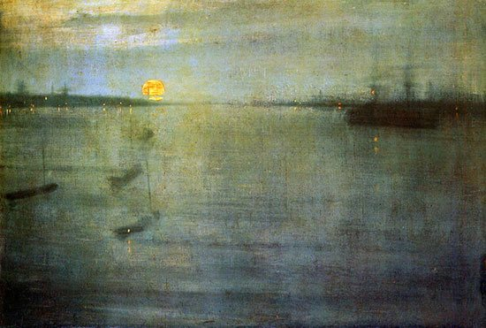 Nocturne Sun by Whistler, oil painting.
