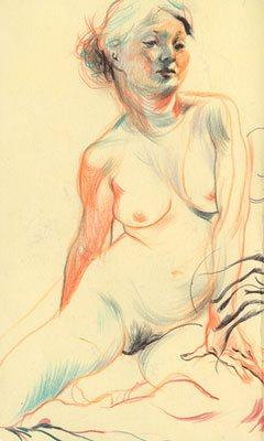 Sketch by James Jean, detail.