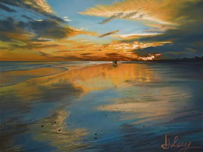 Tramonto by John Hulsey, pastel painting, 18 x 24.