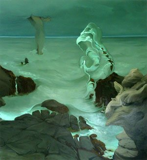 Minor Sea Gods of Maine by Inka Essenhigh, 2009, oil on canvas, 74 x 68.