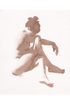 Laura Sitting With Her Arms Crossed by Wendy Artin, 2002, watercolor drawing