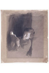 Drawing--Study for Boy Lincoln by Eastman Johnson, 1868, charcoal, white chalk, and gouache on paper