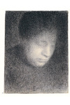 Drawing: The Artist's Mother by Georges Seurat