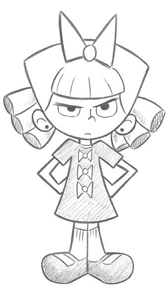 technique christopher hart evil sister character sketch