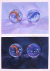 Lisa Dinhofer's oil painting, B&W #1