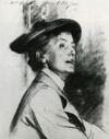 Drawing of Ethel Smyth by John Singer Sargent
