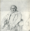 Study for the Portrait of Louis-François Bertin--a drawing by Jean-Auguste-Dominique Ingres