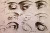 Study of Eyes--a drawing by Jusepe de Ribera