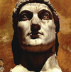 Head of Constantine the Great, sculptor unknown, early 4th century, marble