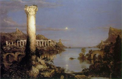 Desolation by Thomas Cole. oil on canvas, 1836, 39 ½ × 63 ½.