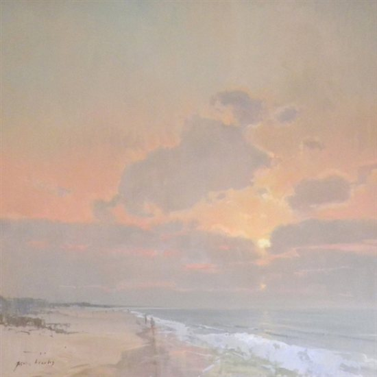 Beach Morning by Gavin Brooks, oil on canvas, 48 x 48.