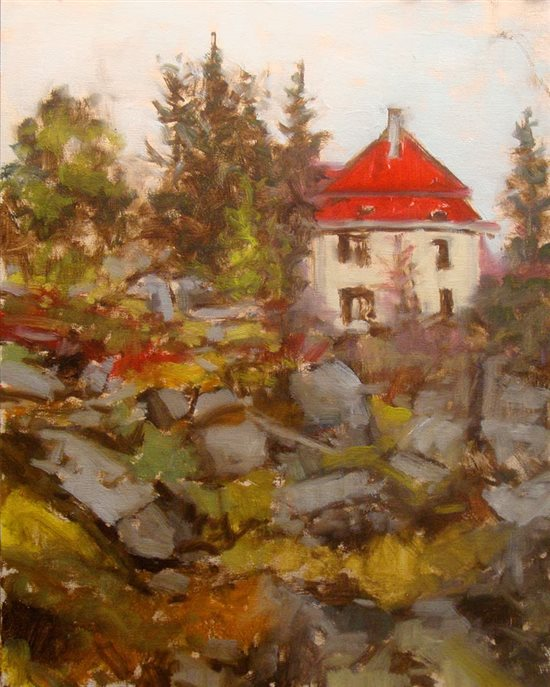 Within the Rocks and Woods 14 x 11, oil painting by Bill Guffey