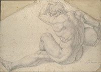 This cartoon or preparatory drawing was the basis for Bronzino's fresco depicting the martyrdom of St. Lawrence.
