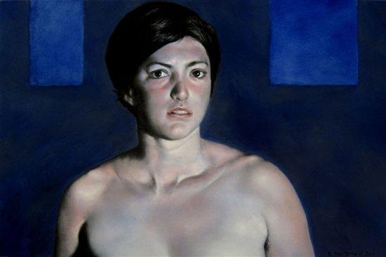 Blue Leah #2, 2011, oil on canvas, 24 x 36.