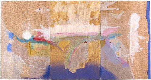 Madame Butterfly by Helen Frankenthaler, woodcut, 2000.
