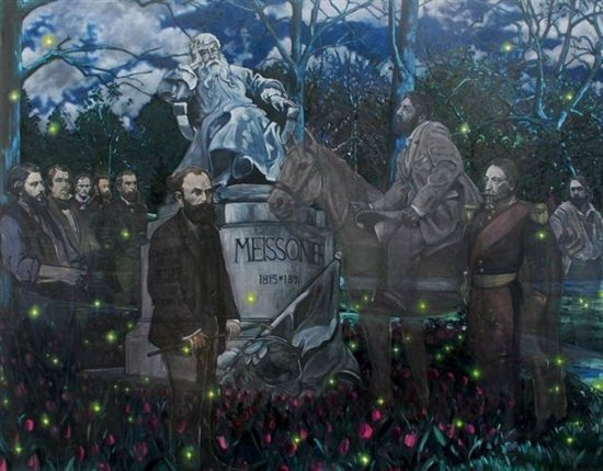 "Parc de Meissonier, Poissy, by Joe Fig, 66"" x 84"", oil on linen, 2010."