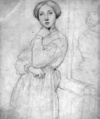 Portrait of Madame d'Haussonville by Ingres, drawing