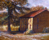 colored pencil drawing, Old Coach Road House by Linda Wesner