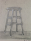 negative-space chair drawing #2