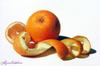 Drawing by Alyona Nickelsen--Orange with Peel
