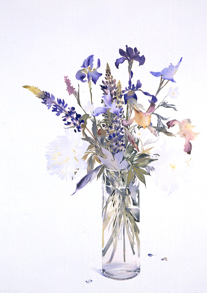 Bouquet by Susan Van Campen, June 2006, watercolor painting ,42 x 29½.