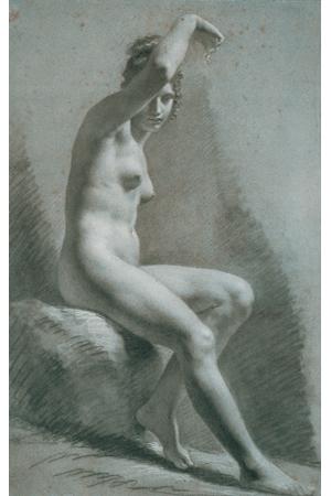 Nude drawing model