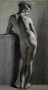 Drawing, Standing Nude by Pierre-Paul Prudhon