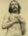 Drawing, Nude Man by John Singer Sargent