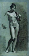 Drawing, Female Nude Study by Pierre-Paul Prud'hon