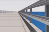 Overseas Highway by Ralston Crawford, screenprint drawing