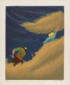Haying by Bernard Joseph Steffen, screenprint drawing